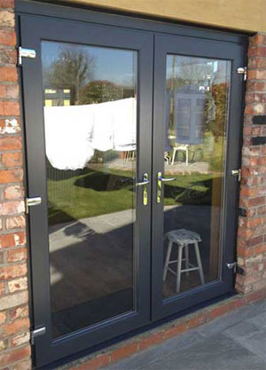 Grey French Door