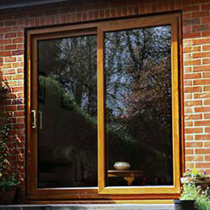 Light Oak Patio Door